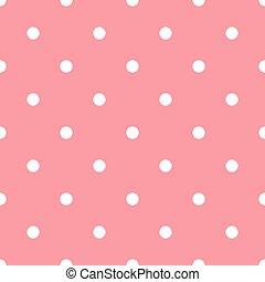 Polka dots pink pattern