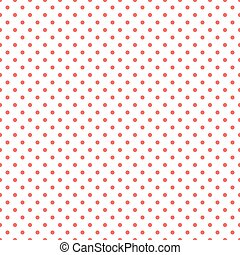 Polka dots red and white pattern