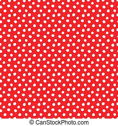 Polka dots red seamless pattern