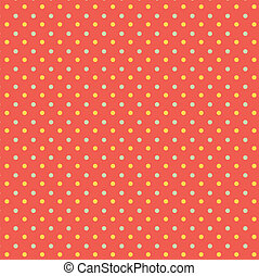 Polka dots retro seamless pattern