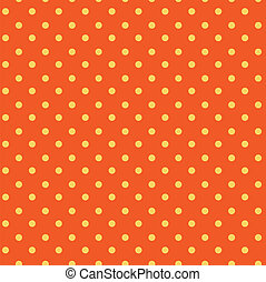 Polka dots seamless pattern , yellow, orange background