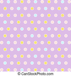Polka Dots - Seamless pattern of colorful polka dots...