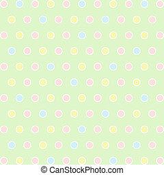 Polka Dots - Seamless pattern of colorful polka dots...