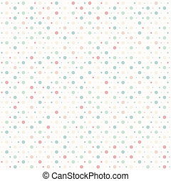 Polka dots vector illustration seam