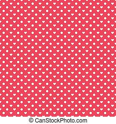 Polka hearts seamless pattern