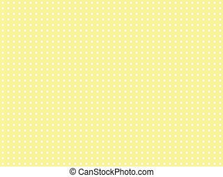 polka, jaune, point