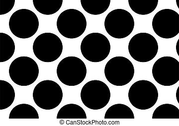 polka, modello, texture., cerchi, maculato, illustrazione, macchioline, vettore, fondo, editable, punteggiato, punti