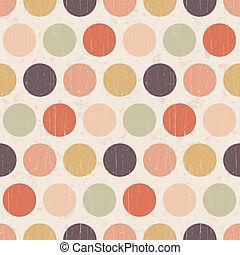 polka, seamless, achtergrond, retro