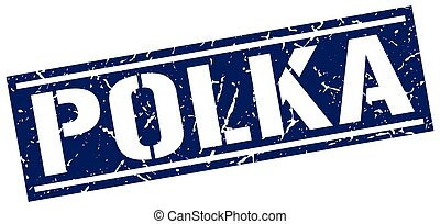 polka square grunge stamp