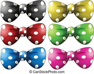 Polkadot bow tie - Illustration of different polka dot bow...