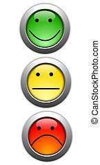 poll or customer satisfaction survey concept with smilie ...