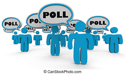 Poll Survey People Answer Questions 3d Illustration