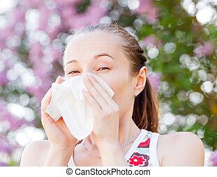 Pollen allergy is a seasonal or regional allergic kind
