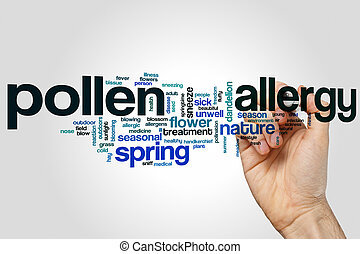 Pollen allergy word cloud