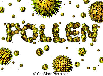 Pollen grains concept as a group of microscopic organic...