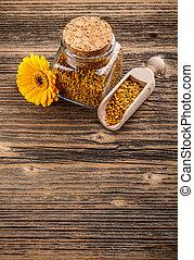 pollen, granules