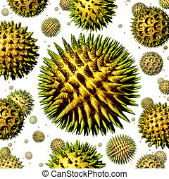 Pollen grains concept as a group of microscopic organic...