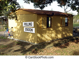 Polling station place for voters to cast ballots in...