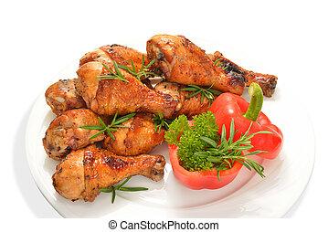 pollo, asado parrilla