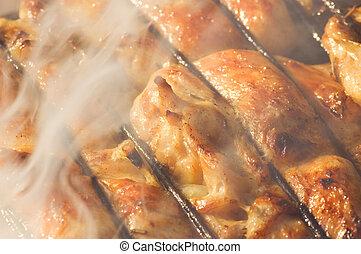 pollo asado parrilla, barbacoa