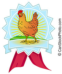 pollo, calidad, señal