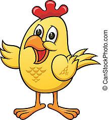 pollo, caricatura, 05