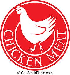pollo, carne, etichetta