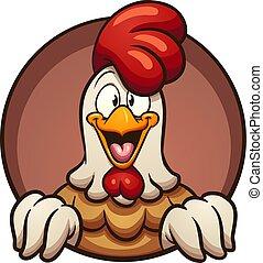 pollo, cartone animato