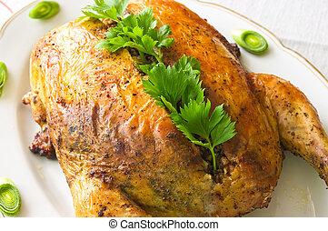 pollo, disecado, trigo sarraceno