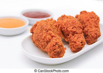 pollo, fritto, profondo