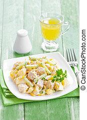 pollo, insalata