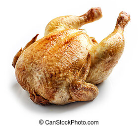 pollo, intero, arrostito