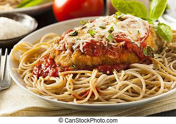 pollo, italiano, casero, parmesano