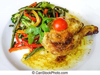 pollo, salsa, delizioso