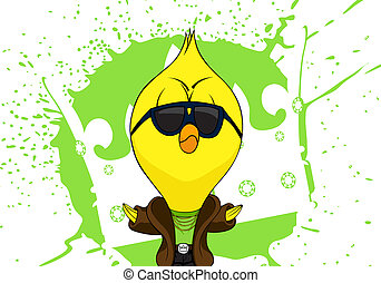 polluelo, caricatura