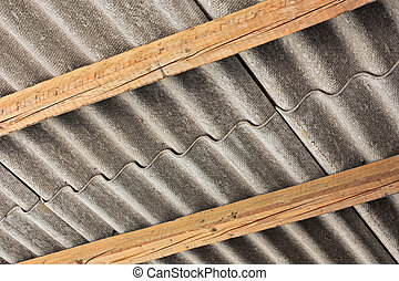 pollutant asbestos cover - asbestos cement panel, pollution...