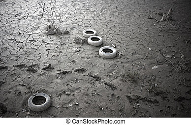 Polluted soil
