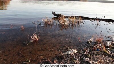Polluted Water - Polluted lake in China