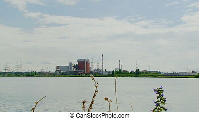 Polluting industries near the river - A huge corps of...