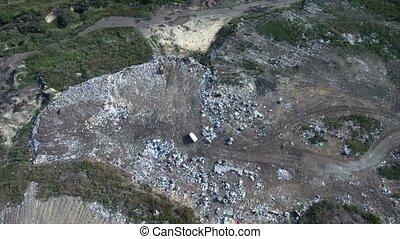pollution, déchets, déchets ménagers, tas, décharge, ...