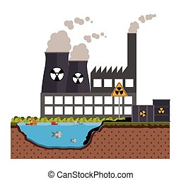 Pollution design over white background, vector illustration