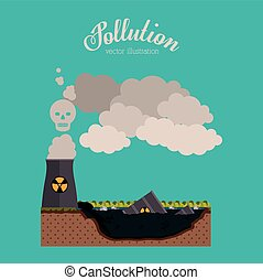 Pollution concept with environment icons design, vector illustration eps 10
