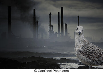 Pollution - Conceptual work about nature, wildlife and...