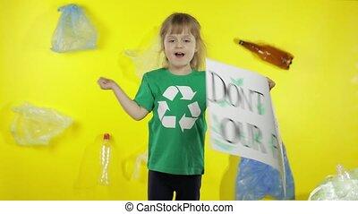 pollution., dzierżawa, aktywista, śmieci, oprócz, don't, ...