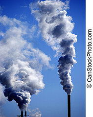 Pollution in the Air - Detail of pollution coming from...