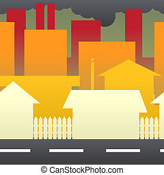 Pollution in the City_stock