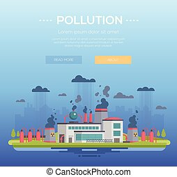 Pollution - modern flat design style vector illustration