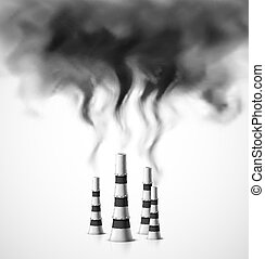Pollution of environment. Illustration contains transparency...