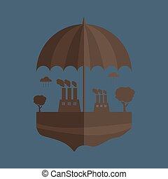 pollution of environment vector illustration