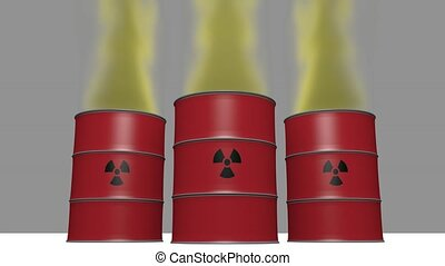 pollution of radioactive waste in the atmosphere - animation